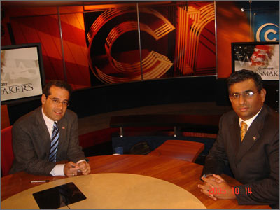 Raza Bokhari appearing on Comcast Newsmakers