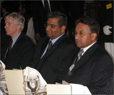Pakistan President Pervez Musharraf and U.S. Ambassador Ryan Crocker at PAKPAC