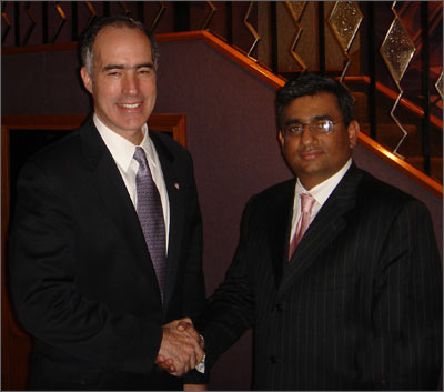 Raza with Bob Casey II