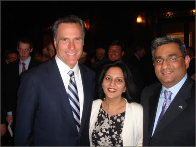 Raza with Mitt Romney