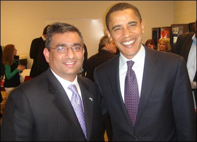 Raza with Barack Obama