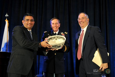 Raza with General David Petreaus and Ed Satell