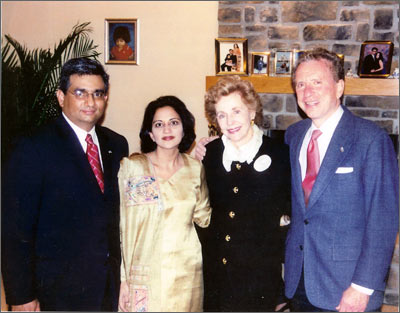 Sabina and Raza Bokhari with U.S. Senator Arlen Specter and his wife