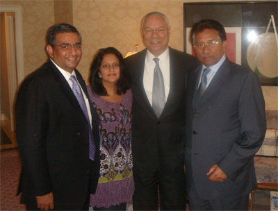 Raza and Sabina with Secretary of State Colin Powell & President Musharraf